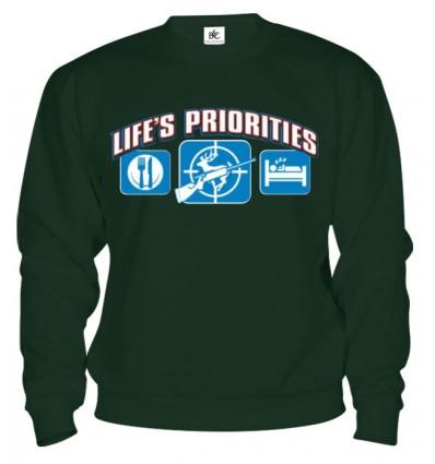 Mikina - Životné priority - Poľovníctvo