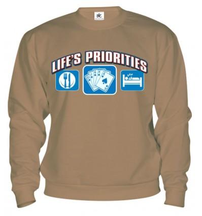Mikina - Životné priority - Poker