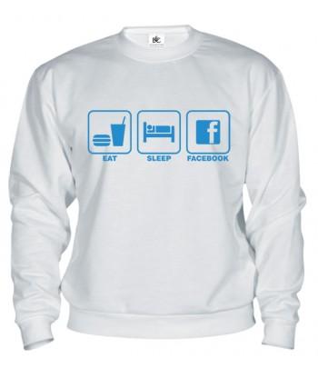 Mikina - Eat Sleep Facebook