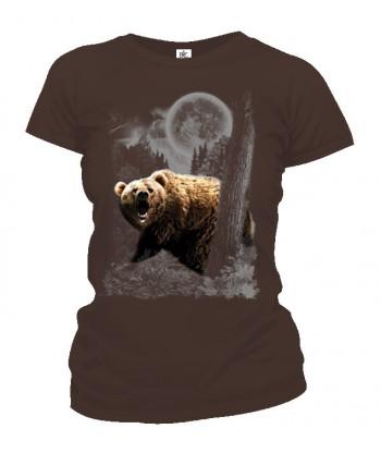 Tričko dámske - Medveď v mesačnom svite