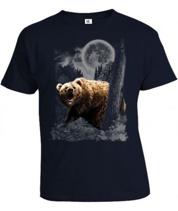 Tričko pánske - Medveď v mesačnom svite