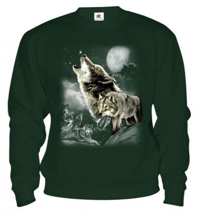 Mikina - Vlk v mesačnom svite