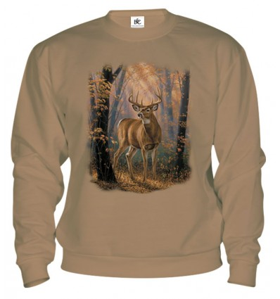 Mikina - Jeleň v lese