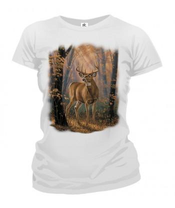 Tričko dámske - Jeleň v lese