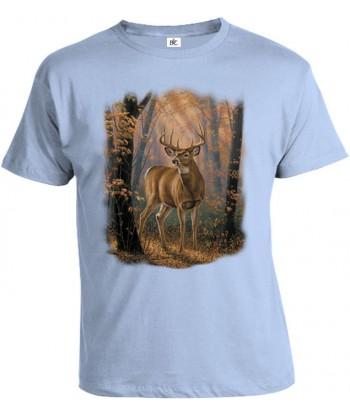 Tričko pánske - Jeleň v lese