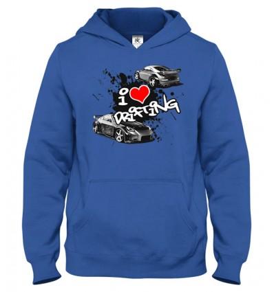 Mikina s kapucňou I Love Drifting