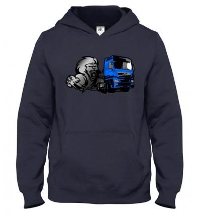 Mikina s kapucňou Lion truck