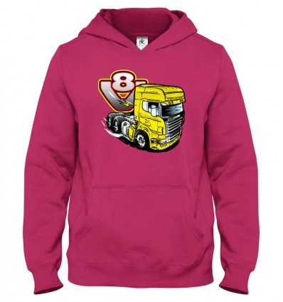 Mikina s kapucňou V8-truck