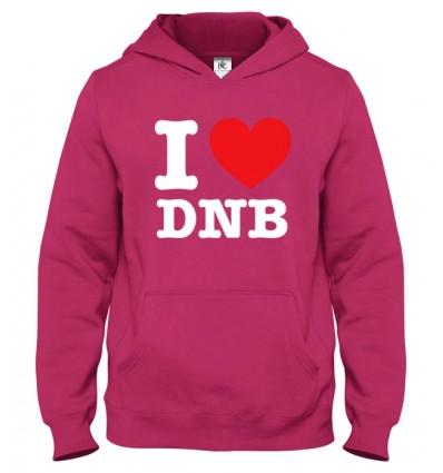 Mikina s kapucňou I Love DNB