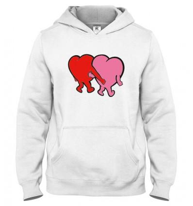 Mikina s kapucňou Zaľúbené srdcia