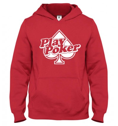Mikina s kapucňou Play Poker