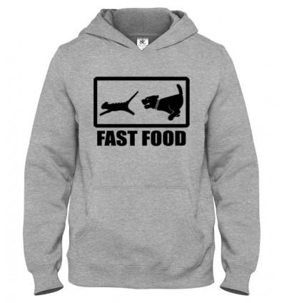 Mikina s kapucňou Fast Food