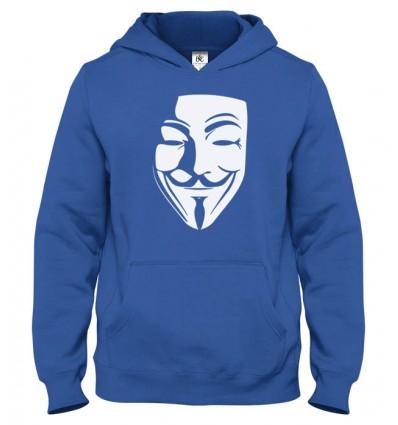 Mikina s kapucňou Anonymous