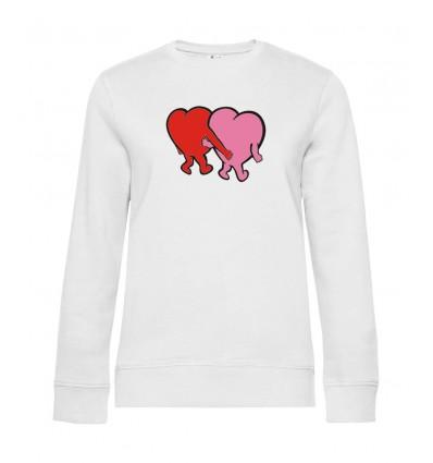 Dámska mikina - Zaľúbené srdcia